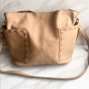Large Steve Madden Faux Leather Crossbody Bag